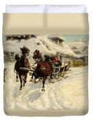 The Sleigh Ride Duvet Cover