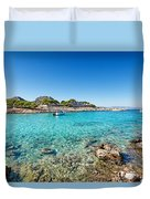 The Small Island Aponisos Near Agistri Island - Greece Duvet Cover