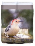 The Smiling Woodpecker  Duvet Cover