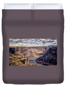 The Snake River At Twin Falls Idaho Duvet Cover