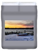 The Snow Boat Duvet Cover