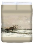 The Snow Duvet Cover by Charles Francois Daubigny