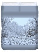 The Snow Falls To The Trees Duvet Cover