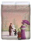 The Snowman Duvet Cover by Peter Szumowski