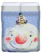The Snowman's Head Duvet Cover