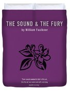The Sound And The Fury Greatest Books Ever Series 018 Duvet Cover