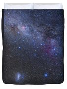 The Southern Sky And Milky Way Duvet Cover
