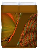 The Space Between Two Forces Abstract Duvet Cover