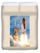 The Space Shuttle Discovery And Its Seven Duvet Cover