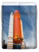 The Space Shuttle Launch System Duvet Cover by Jim Thompson