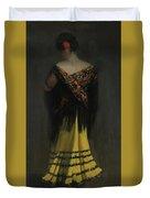 The Spanish Shawl - Portrait Of Jeanne Frankenberg Duvet Cover