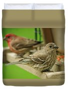 Two Finch's Duvet Cover