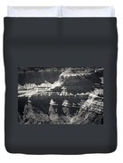 The Spectacular Grand Canyon Bw Duvet Cover