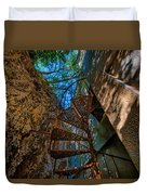 The Spiral Staircase Of The Abbandoned Children Summer Vacation Building - La Scala A Chiocciola Del Duvet Cover