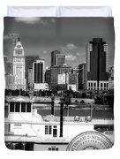 The Spirit Of America And Cincinnati  Duvet Cover