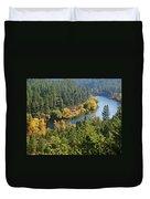 The Spokane River  Duvet Cover