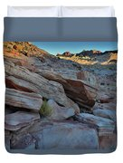 The Spotlight Fades At Valley Of Fire Duvet Cover