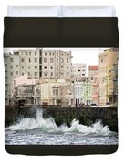 The Spume At Malecon Duvet Cover