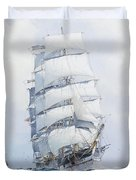 The Square-rigged Wool Clipper Argonaut Under Full Sail Duvet Cover