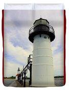 The St. Joseph Lighthouses In Michigan Duvet Cover