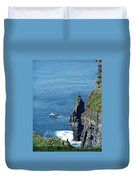 The Stack And The Jack B Cliffs Of Moher Ireland Duvet Cover