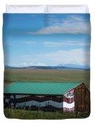 The Star Spangled Barn Duvet Cover