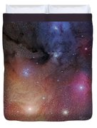 The Starforming Region Of Rho Ophiuchus Duvet Cover