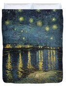 The Starry Night Duvet Cover by Vincent Van Gogh