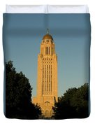 The State Capitol Building In Lincoln Duvet Cover