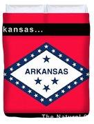 The State Flag Of Arkansas Duvet Cover