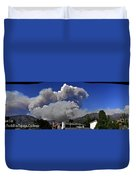 The Station Fire Panoramic Duvet Cover