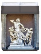 The Statue Of Laocoon And His Sons At The Vatican Museum Duvet Cover
