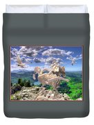 The Statue Of The Rock Duvet Cover