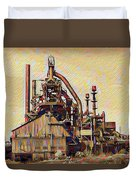 The Steel Stacks Watercolor Duvet Cover