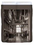 The Stegmaier Brewery Boiler Room Wilkes Barre Pennsylvania 1930's Duvet Cover