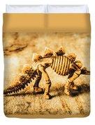 The Stegosaurus Art In Form Duvet Cover