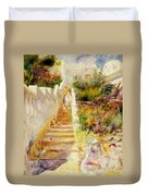 The Steps In Algiers Duvet Cover by Pierre Auguste Renoir