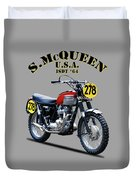 The Steve Mcqueen Isdt Motorcycle 1964 Duvet Cover