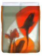 The Still Life With The Shadows Of The Flowers. Duvet Cover