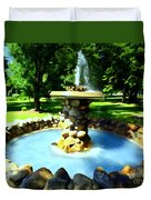 The Stone Fountain Duvet Cover