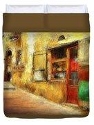 The Street  -- Original Painting Duvet Cover