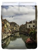 The Streets Of Venice Duvet Cover