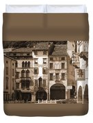 The Streets Of Vittorio Veneto Duvet Cover