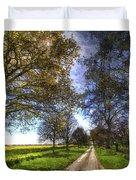The Summer Farm Track Art Duvet Cover