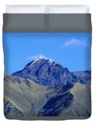 The Summit Of Mount Cotacachi Duvet Cover