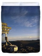 The Summit Of Mt. Kilimanjaro, Africas Duvet Cover