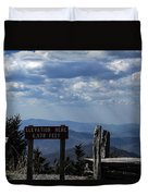 The Summit On Mount Mitchell Duvet Cover