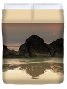The Sun And Rocks Duvet Cover