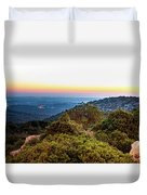 The Sun Of The Evening Of The Mountain And Sea Duvet Cover