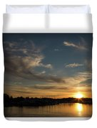 The Sun Sets In Milford Duvet Cover